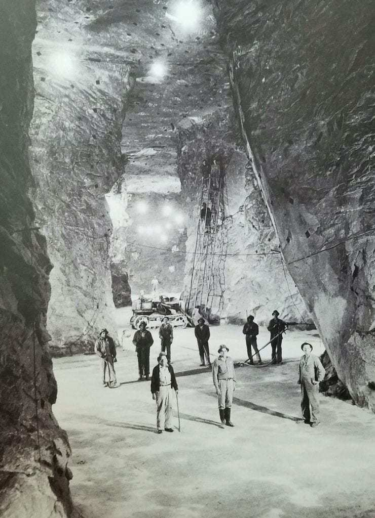 Five enormous caves beneath the Marcus Hook Industrial Complex were excavated to store energy products between 1957 and 1973. PHOTO COURTESY OF SUNOCO/ETP