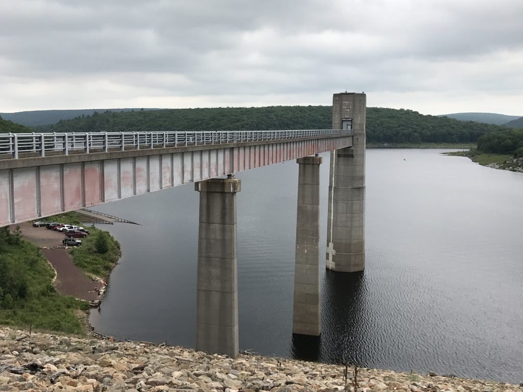 F.E. Walter Dam and Reservoir traps and holds the water of the upper Lehigh River in Luzerne County, Pennsylvania. PHOTO BY MEG MCGUIRE
