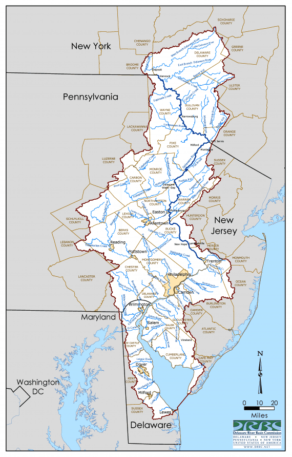<strong>Delaware River Watershed</strong><br>Click to enlarge.
