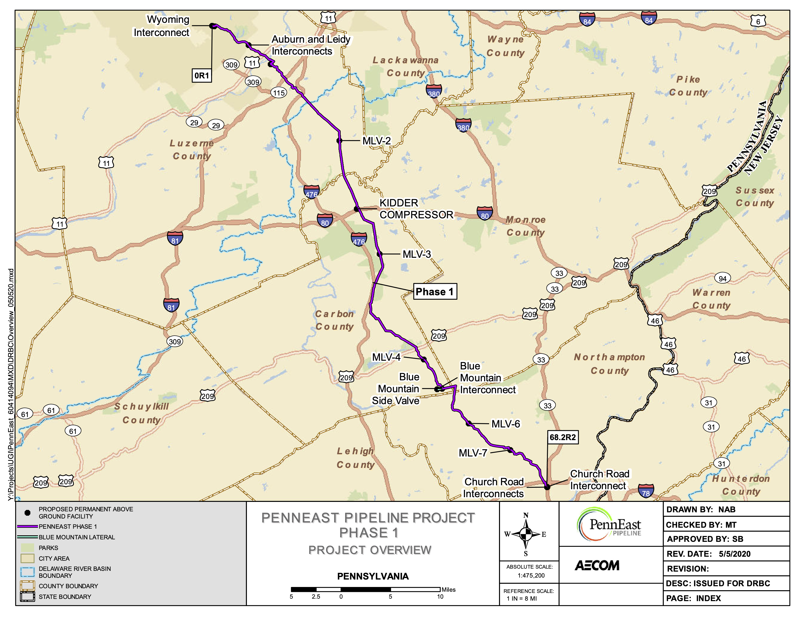 PennEast Pipeline pauses land acquisitions in Pennsylvania