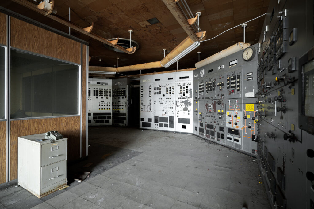 Southwark Generating Station control panels from the 1940s