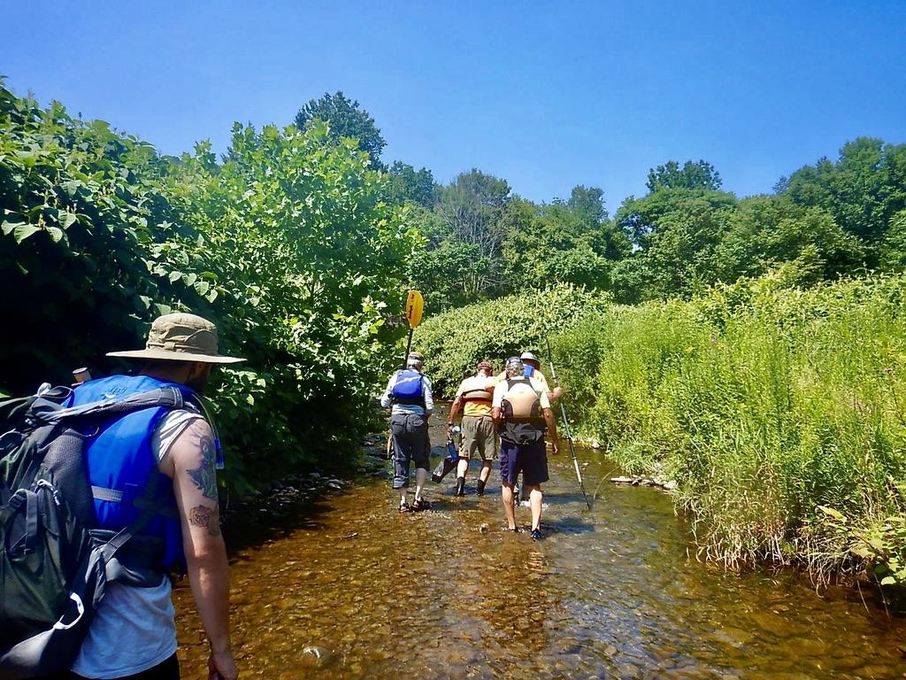Hiking a creek