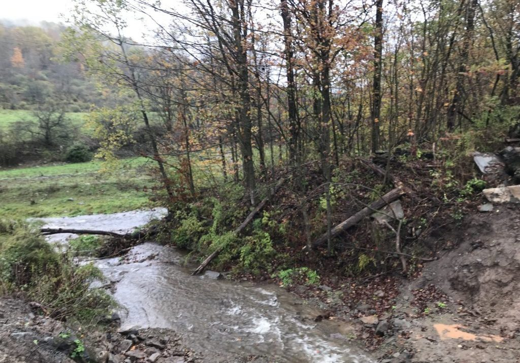 Not far from Pepacton  Reservoir and Downsville off Gregory Hollow Road, federal grant money is helping to pay for a new, much-needed culvert to prevent flooding. PHOTO BY MEG MCGUIRE