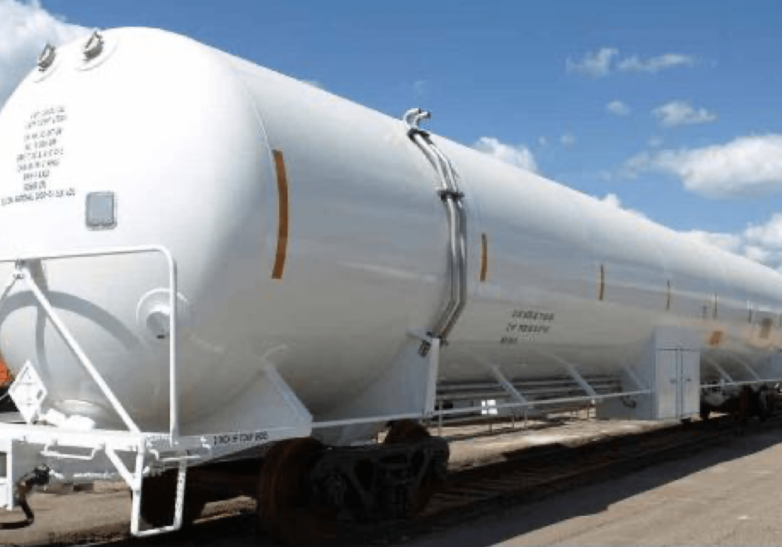 The DOT-113C120W cars are rare in number and one expert likened securing replacement parts for these tankers to finding parts for a rare automobile. PHOTO BY CHART INDUSTRIES via PHMSA REPORT