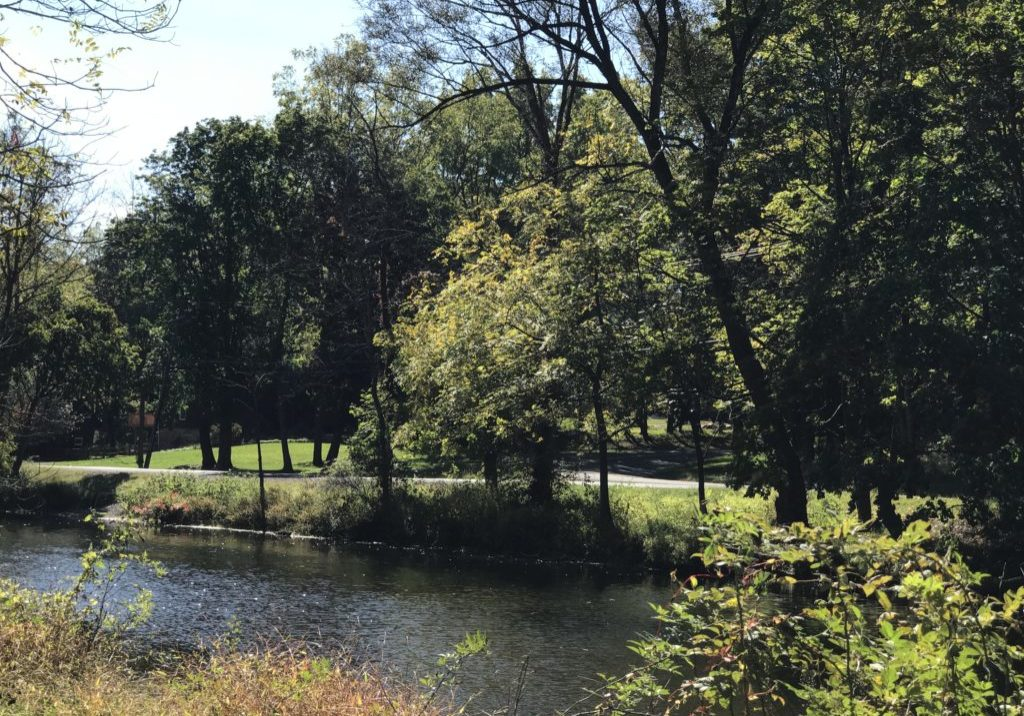 Looking across the Musconetcong River in Asbury, N.J. PHOTO BY MEG MCGUIRE