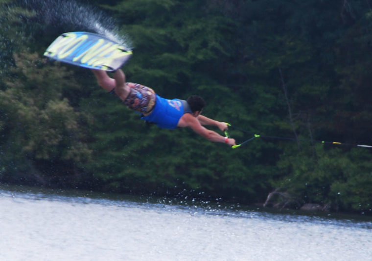 A competitor for the state wakeboarding championship. PHOTO BY JANE PRIMERANO