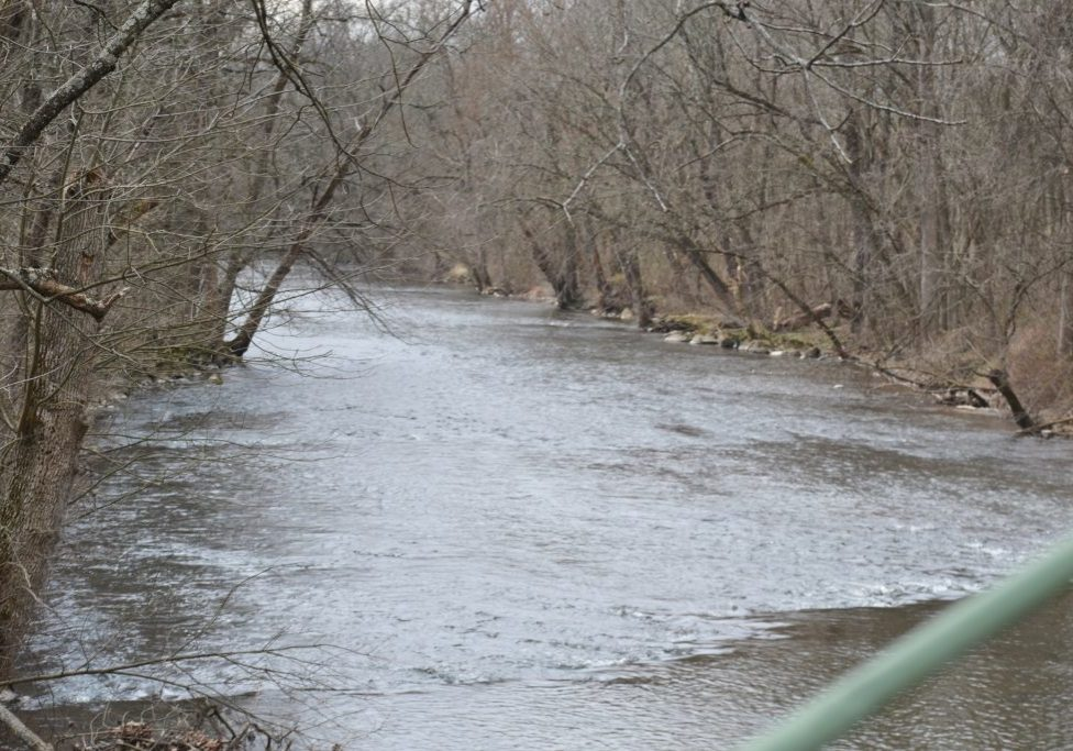 The Musconetcong flows toward the Delaware, as seen from the Hampton Bridge. PHOTO BY JANE PRIMERANO